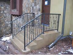 Outdoor Metal Handrails For Stairs by Outdoor Stair Railing