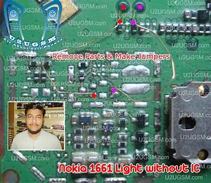Nokia 1661 Light Without Ic Display Keypad Led Jumper Tested