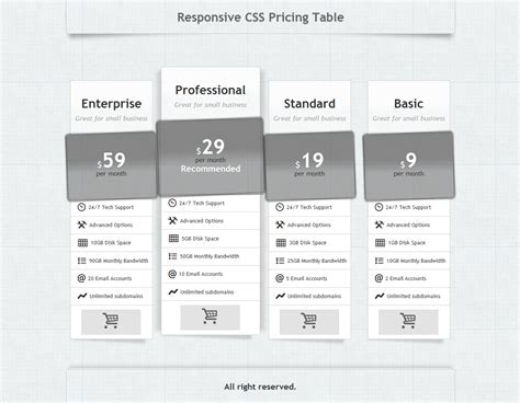 responsive table css template templates collections
