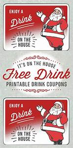 Printable Coupons Without Downloads Santa Holiday Drink Ticket Template Free Printables Online