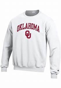 Full Screen Stock Chart Champion Oklahoma Sooners Mens White Arch Mascot Long