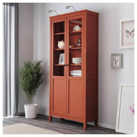 Storage Cupboards Ikea by Ikea Hemnes Cabinet With Panel Glass Door Solid Wood Has A