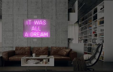 new it was all a dream neon sign wall decor light