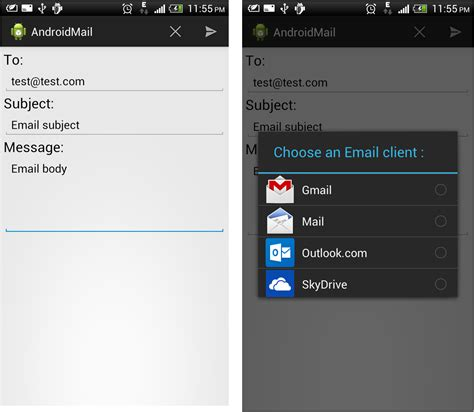 how to send from android how to send email in android stacktips