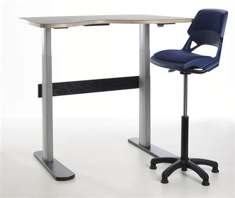 sit and stand desk aalborg sit stand adjustable desk for classrooms and