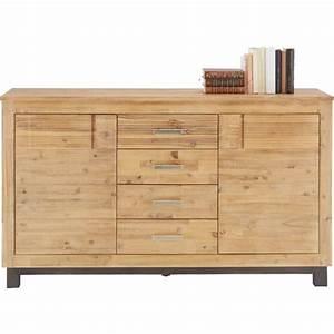 Sideboard Schwarz Holz : sideboard aus akazie online kaufen m max ~ Whattoseeinmadrid.com Haus und Dekorationen
