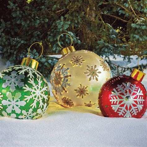Massive Fiberoptic Led Outdoor Christmas Ornaments  The