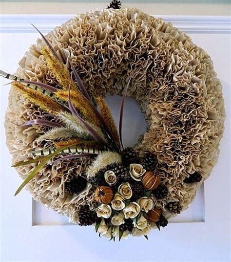 fun fall coffee filter wreath allfreeholidaycraftscom