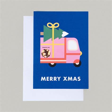 merry christmas truck scratch card by i am a notonthehighstreet com