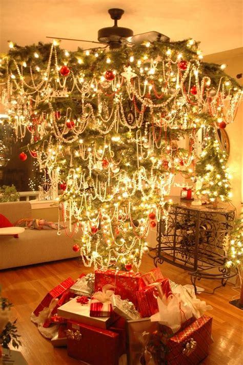 upside  christmas tree interesting  room