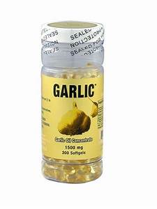 Garlic Oil 3mg  500 1  300 Capsules 3 Months Supply  Fresh Made In Usa Free Ship