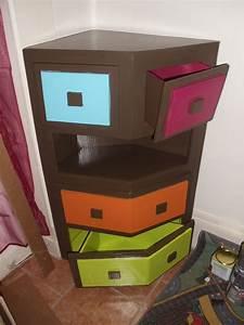 Meuble D Angle : meuble en carton d angle avec tiroirs david mercereau ~ Teatrodelosmanantiales.com Idées de Décoration