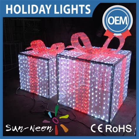 light up gift boxes light up outdoor christmas decorations 3d led gift boxes