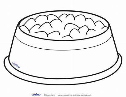 Printable Bowl Dog Coloring Clipart Bone Bowls