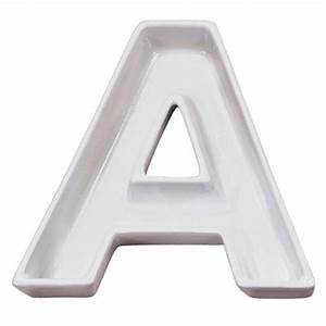 Ceramic letter dishes for Letter dishes