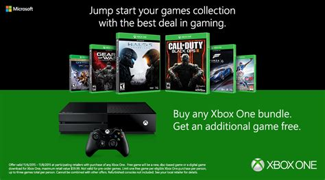 buy any xbox one bundle and get an additional free