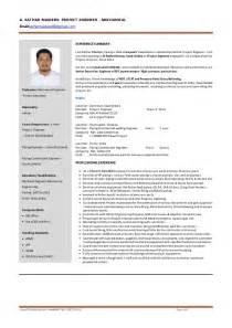 curriculum vitae project engineer project engineer cv