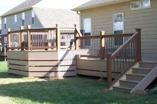 Diy Deck Skirting Ideas by Raised Deck Skirting Ideas Doherty House Metal Deck