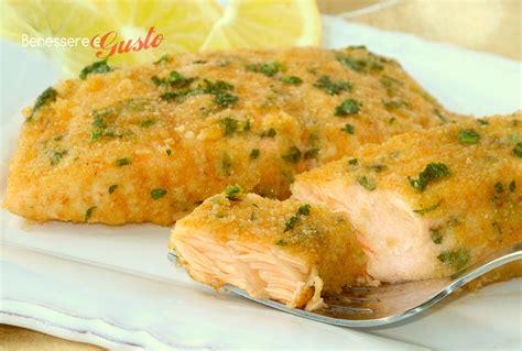 salmone gratinato al forno secondo piatto veloce