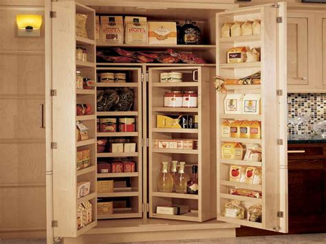 Bloombety  Large Pantry Storage Cabinet With Products