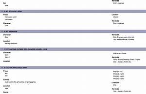 character breakdown template With scene breakdown template