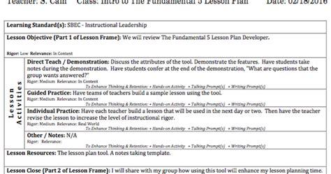 t tess lesson plan template lead your school the fundamental 5 lesson plan developer