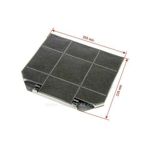 filtre charbon actif eff72 265 x 235 mm de hotte aspirante ariston indesit scholtes faber