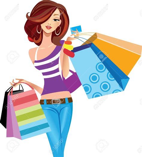 Fashion clipart going shopping - Pencil and in color fashion clipart going shopping
