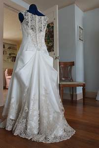 wedding gown bustle bow this was beautiful it took With how to make a bustle on a wedding dress