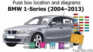 Fuse Box Location And Diagrams  Bmw 1-series  2004 U20132013