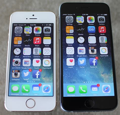 compare iphone 5 and 6 in depth review apple s 4 7 inch iphone 6 running ios 8