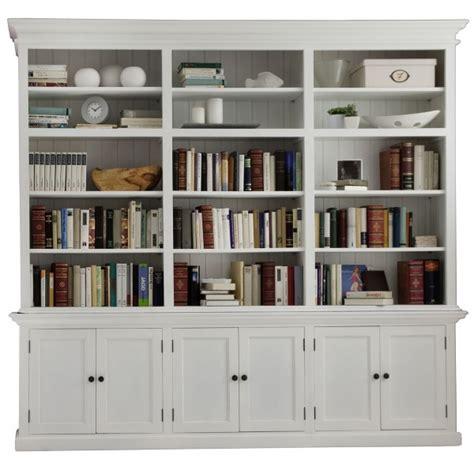 biblioth 232 que grande largeur acajou blanc