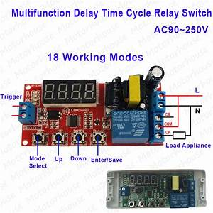 Digital Ac 110v 220v Multifunction Delay Timing Cycle