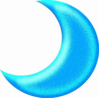 Moon Clipart Clip Half Transparent Crescent Cliparts