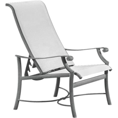 tropitone montreux sling reclining chair universal