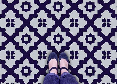 casablanca vinyl floor tiles by zazous