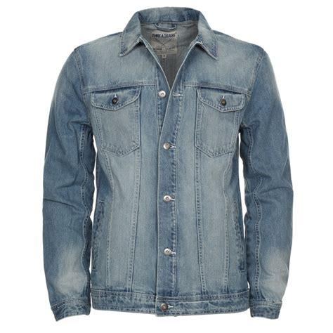 Men 39 S Threadbare Light Blue Wash Denim Jacket