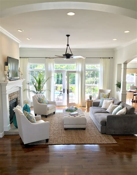 Living Room Concept by Open Concept Living Family Room With Doors And