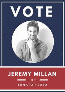 Free Campaign Poster Templates Simple Blue Red And White Campaign Poster Templates By