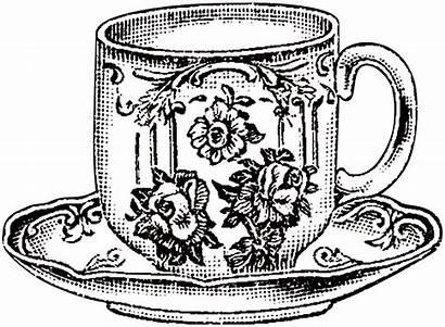 Teacup Clip Tea Clipart Floral Cup Drawing