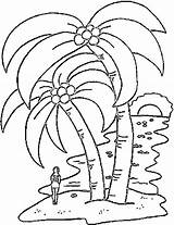 Tree Coloring Palm Trees Pages Colouring sketch template