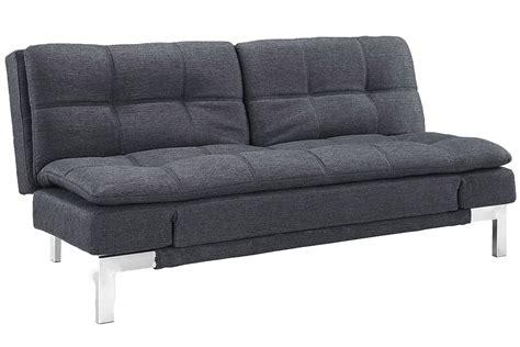 Simple Modern Futon Sofa Bed Grey  Boca Futon The Futon Shop