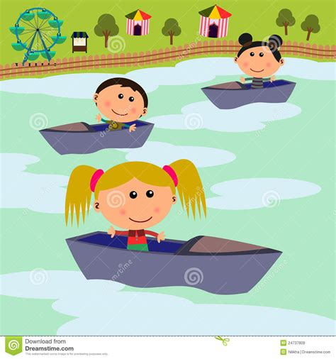Boat Ride Cartoon by Carnival Scene Boat Ride Royalty Free Stock Images Image
