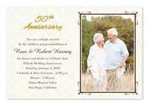 50th wedding anniversary poems invitation wording sles by invitationconsultants anniversary all