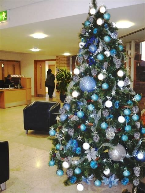 blue and silver christmas tree 2017 best template idea