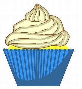 Blue Vanilla Cupcake Free Stock Photo - Public Domain Pictures