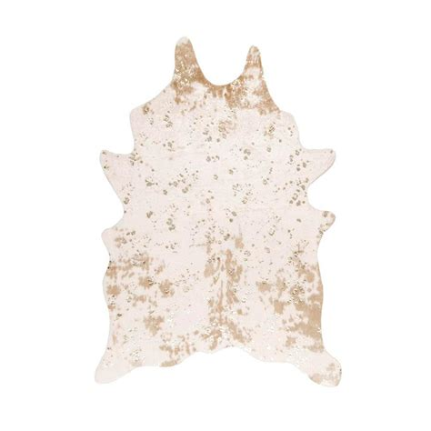 Faux Cowhide Rug by Nuloom Iraida Faux Cowhide White 6 Ft X 8 Ft Area