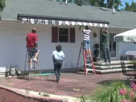 install retractable awning youtube