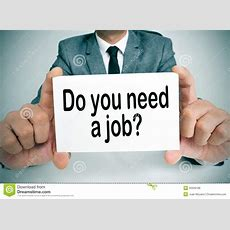 Do You Need A Job Stock Photo Image Of Businessman
