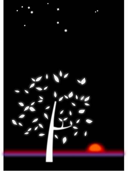 Night Draw Landscape Drawings Dark Moon Clouds
